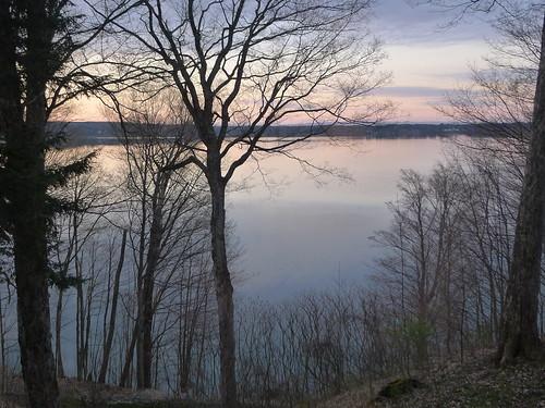 lake nature sunrise view