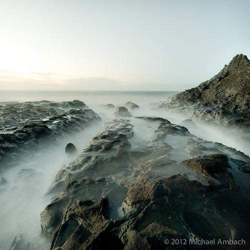 ocean longexposure seascape canada square coast northwest britishcolumbia fisheye shore haidagwaii nikond700 nikkor16mmf28fisheye