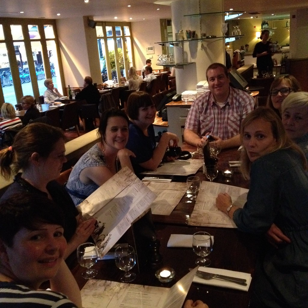 the FQ team have a well earned end of retreat dinner