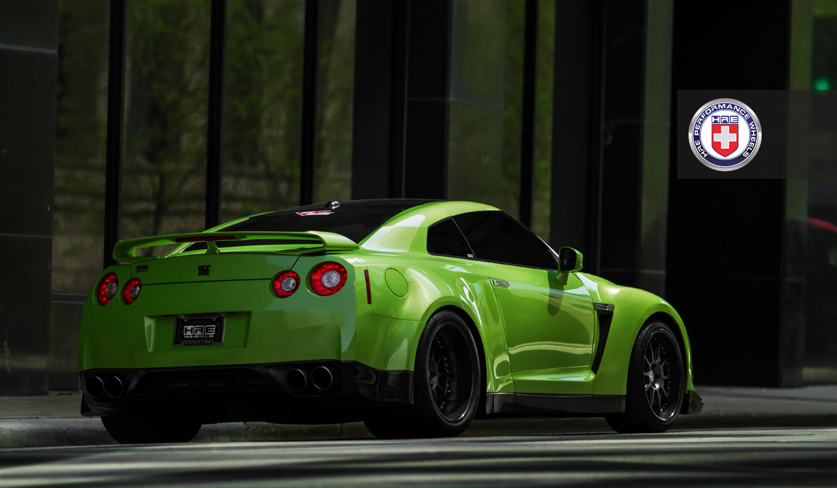 Jotech Green Widebody Hulk On Hre Wheels Photoshoot R35 Gt R Gt R Life