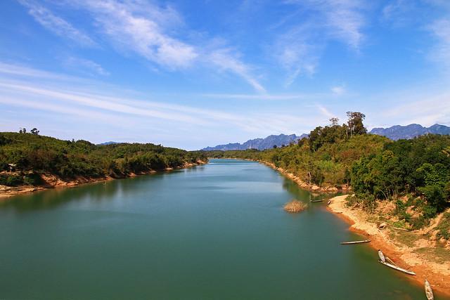 The landscape of Laos.