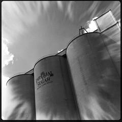 Old Imperial Sugar mill in Sugar Land, Texas.