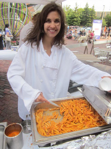 1000 Tastes of Toronto celebration, Vodka Penne Pasta at Luminato in the Distillery District