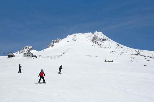 Mt. Hood, OR, Ski Resort.  Катание в Маунт Худ. Конец сезона, 2012.