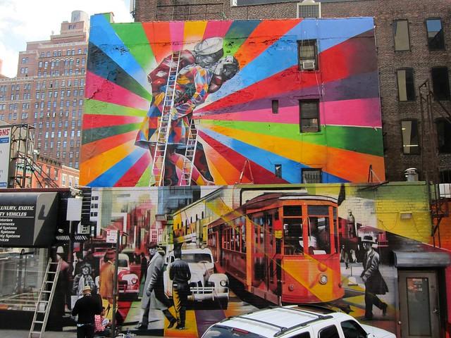 Eduardo Kobra Chelsea mural, V-J Day in Times Square