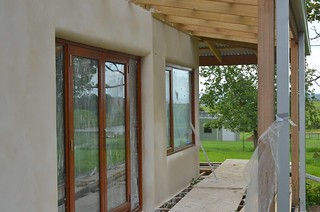 Transition between bales and hebel wall