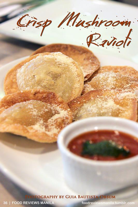 Crisp Mushroom Ravioli from Brew-Kus