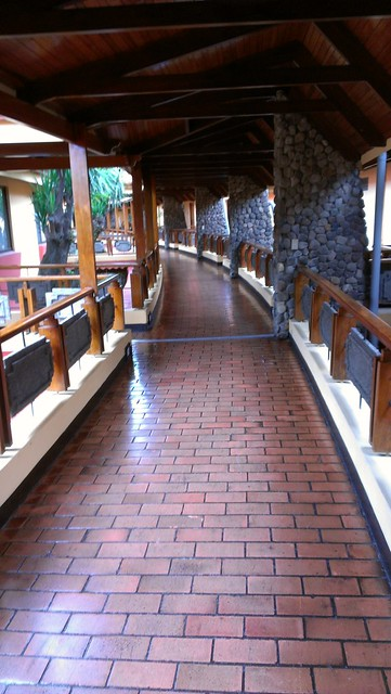 The hotel was open air. This is the walkway to my room.