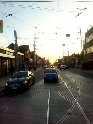 Looking west, Bathurst and Dundas