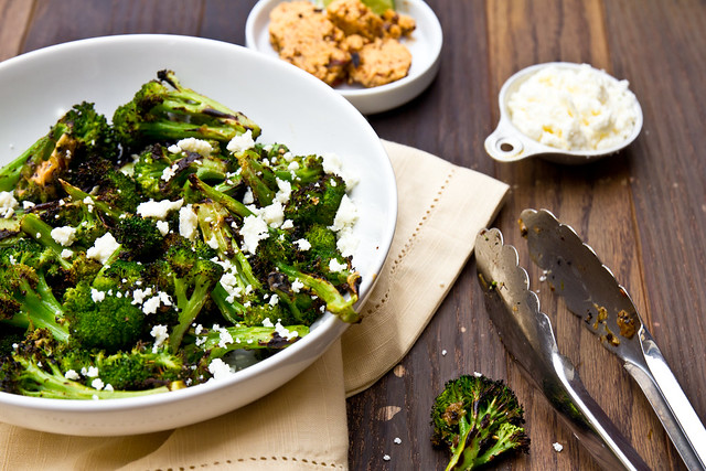 Grilled Broccoli with Chipotle-Lime Butter