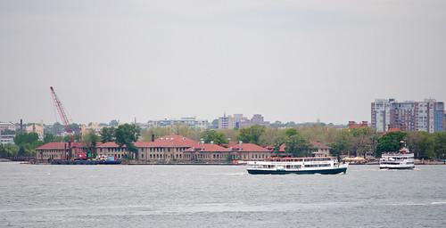 Ellis Island from Staten Island Ferry