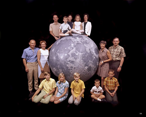 1969 ... Apollo 11 astronauts with families