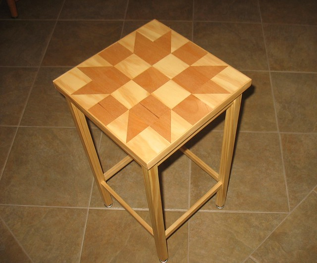 Wood Quilt End Table | Using a traditional quilt block patte ...