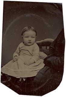 Tintype of an Adorable Baby with a Hidden Mother