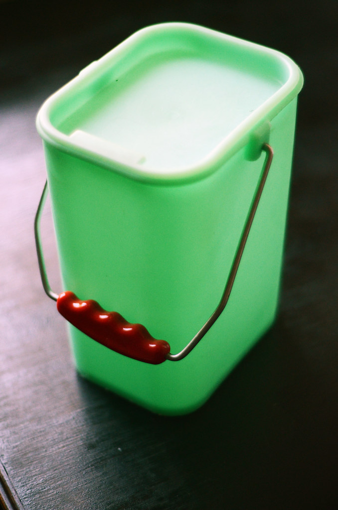 Vintage Container with Red Handle