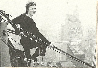 1974 New York City: Philippe Petit atop the World Trade Center