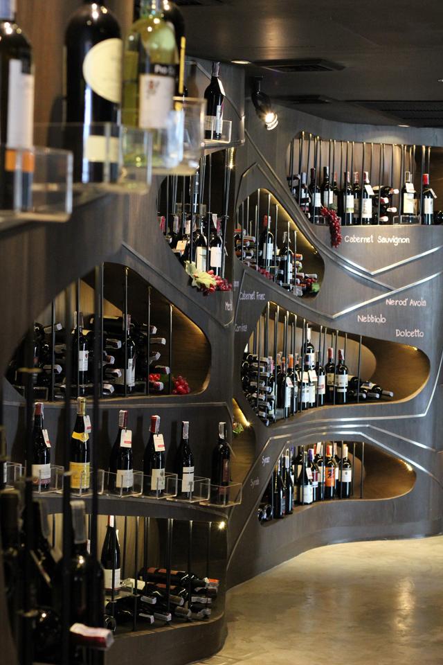 Wine store at Aloft Hotel