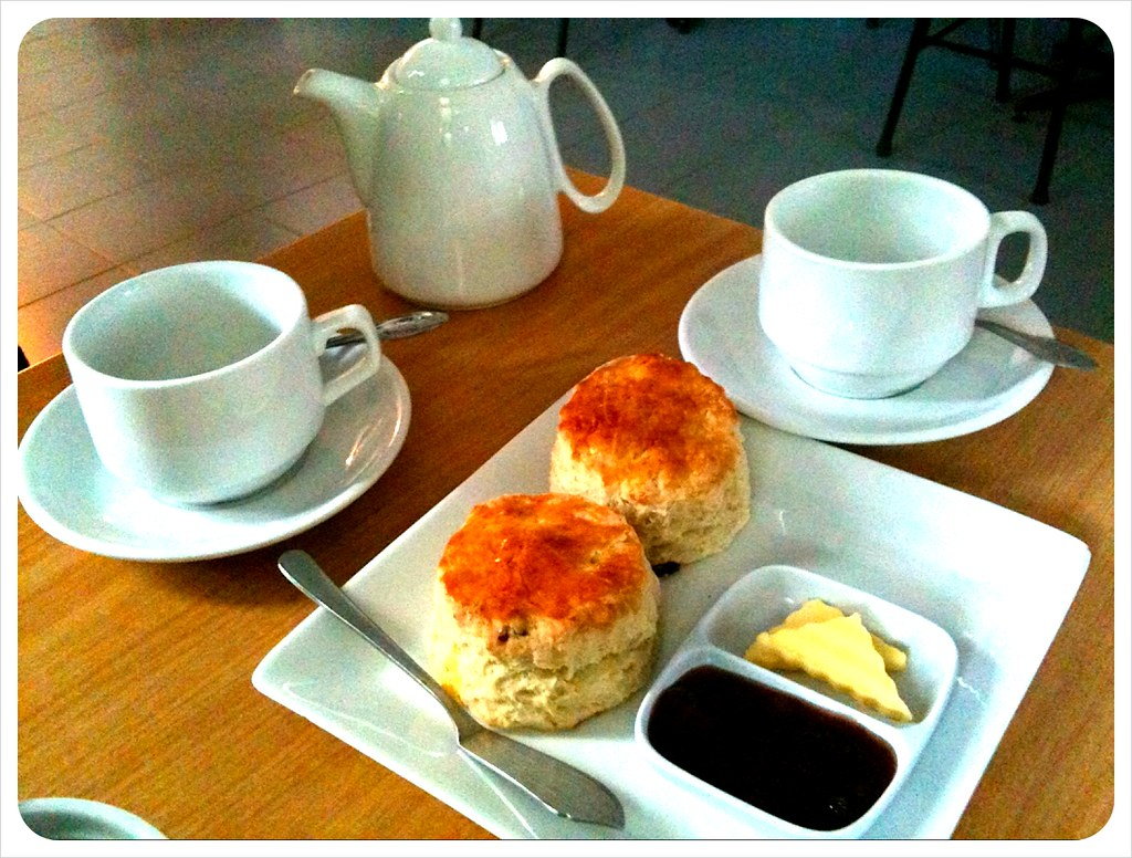 Tea and scones in the Cameron Highlands