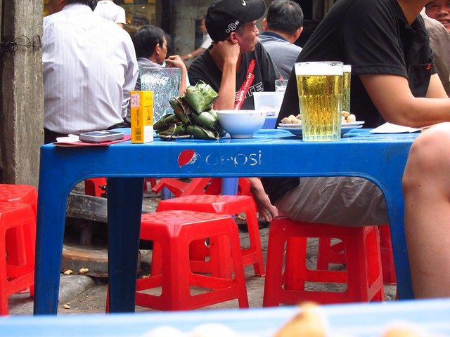 Tiny Tables and Chairs at a Bia Hoi Joint