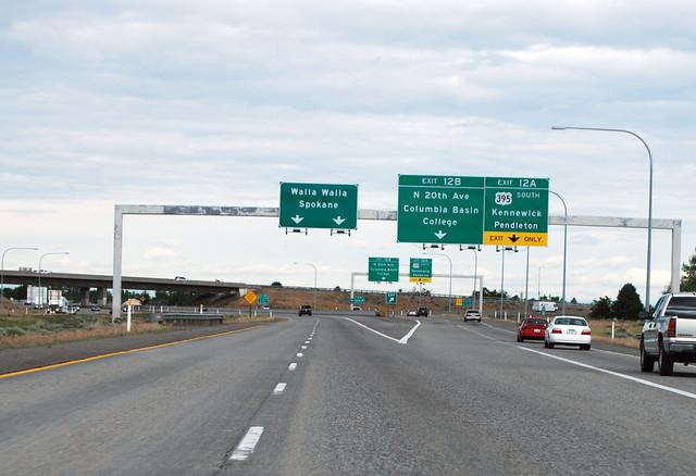 I-182 @ US 395 southward