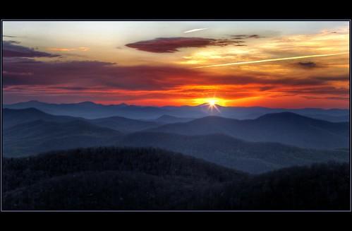 morning sky sun mountains clouds sunrise nc view northcarolina sunburst overlook hdr blueridgeparkway blueridge photomatix tonemapped nikfilters hdraddicted paulmalcolm eastforkoverlook topazstarefex