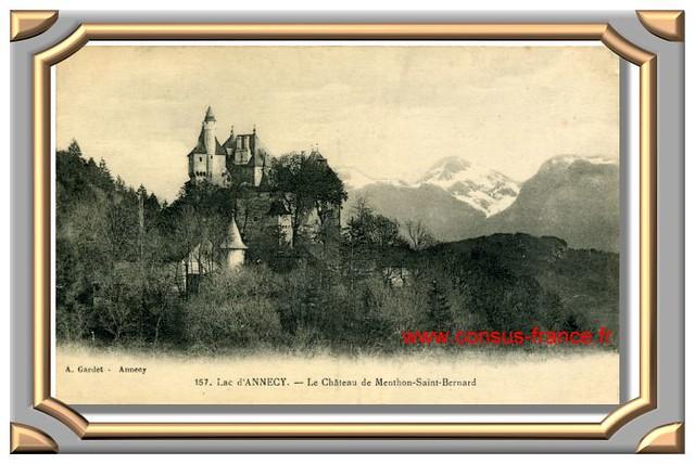 Lac d'Annecy. - Le Chateau de Menthon -70-150