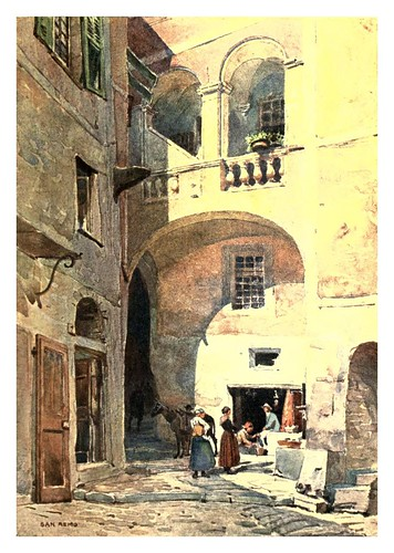 009-San Remo-Sketches on the old road through France to Florence-1905- Alexander Henry Hallam Murray