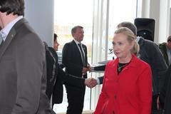 Hillary Clinton at the Fram Centre