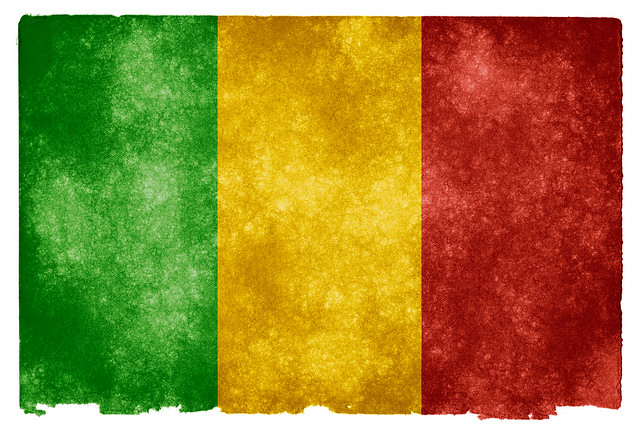 Mali Grunge Flag
