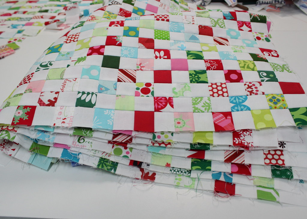 1 inch postage blocks- halfway there...
