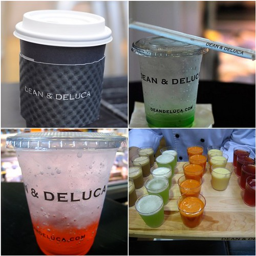 Drinks at Dean & DeLuca Singapore