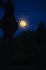 'Super Moon' Over the Cemetery