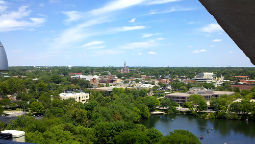 View of downtown Naperville from the Millennium Carillon by functoruser