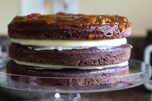 third layer; top with apricot preserves