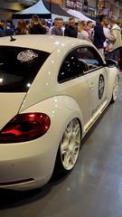 automobile(1.0), volkswagen beetle(1.0), automotive exterior(1.0), wheel(1.0), volkswagen(1.0), vehicle(1.0), automotive design(1.0), volkswagen new beetle(1.0), auto show(1.0), subcompact car(1.0), city car(1.0), land vehicle(1.0), sports car(1.0),