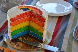 82/365 Rainbow Birthday Cake
