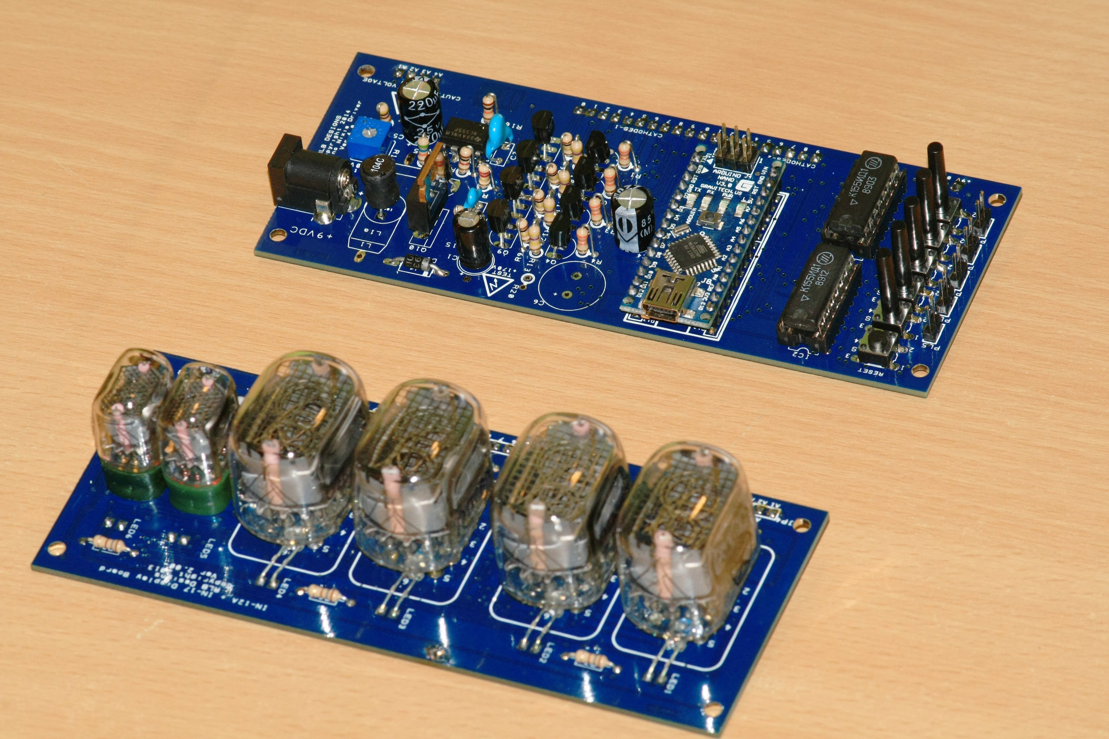 Rlb Designs Nixie Tube Clock Overview And Electronic Schematics Schematic