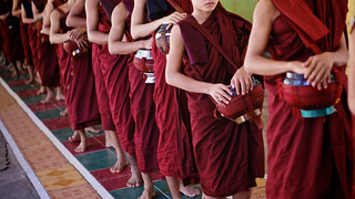 Boy monks, Yangon, Burma