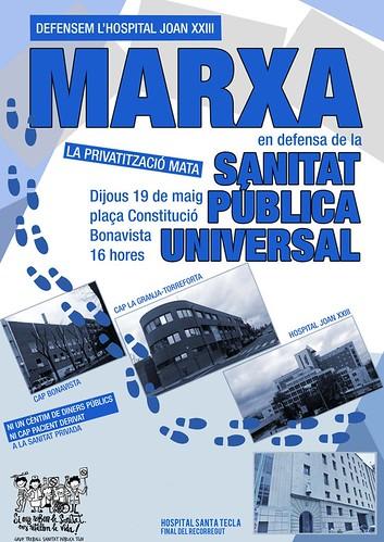 Marxa en Defensa de la Sanitat Pública a Tarragona