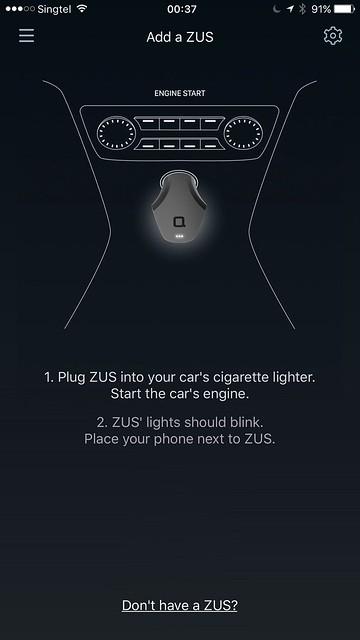 ZUS iOS App - Setup 1