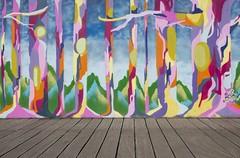 Street art, Millennium Boardwalk, Cardiff