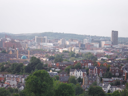 Town Centre from Meersbrook Park
