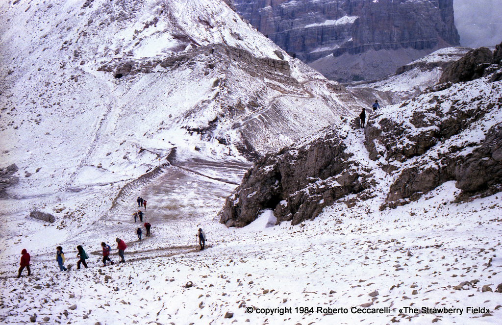 Neve settembrina sul Lagazuoi