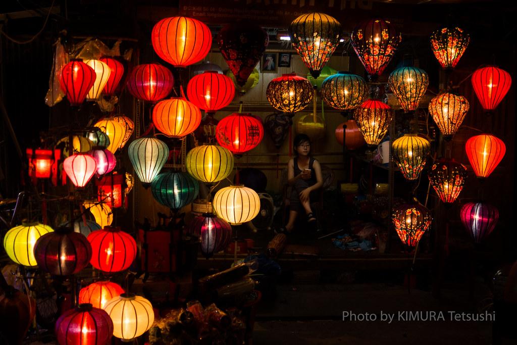 Chinese lantern stall in Hoi An, Vietnam