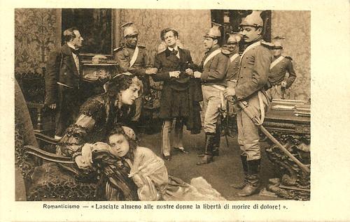 Tullio Carminati, Helena Makowska and Mary Cléo Tarlarini in Romanticismo (1915)