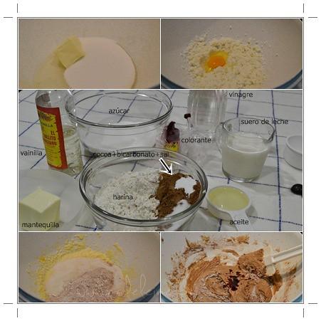 Ingredientes ypreparación de los red velvet whoopie pies