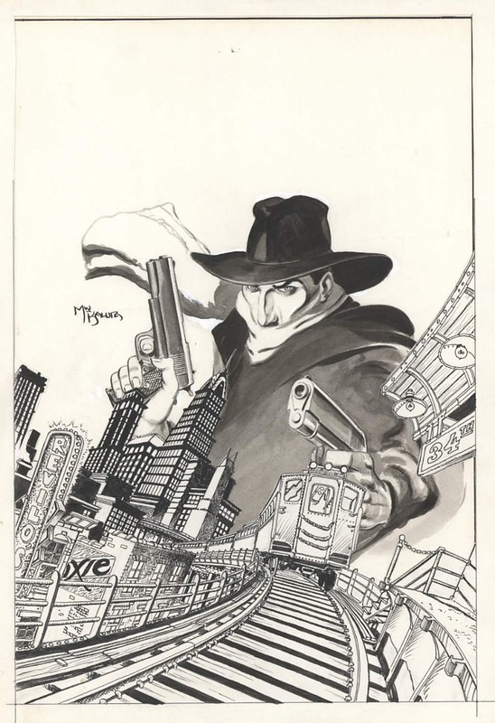 The Shadow 1 original cover art by Michael Kaluta