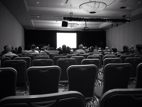 A session at LPSC.