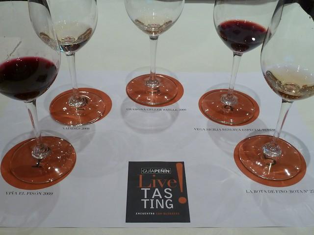 Livetasting de cuatro vinos y un cava