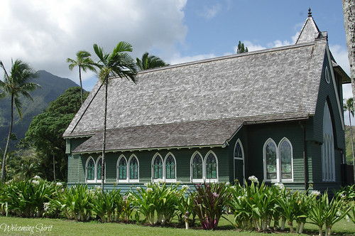 Outside: Wai`oli Hui`ia Church
